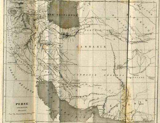 """در کتابی تحت عنوان """"جهان"""" چاپ سال 1841 میلادی (1220 شمسی) که در آن به تاریخ ایران پرداخته شده است، نام """"خلیج فارس"""" بر نقشه ایران خودنمایی میکند که این امر نشان از قدمت و تمدن تاریخی نام خلیج فارس دارد."""