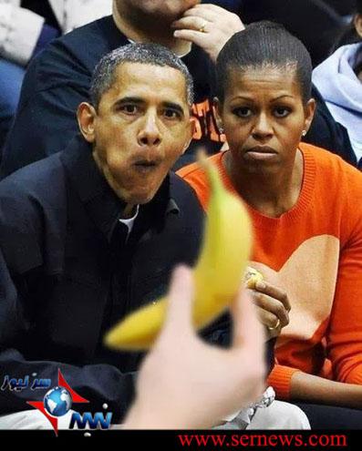 عکس/ واکنش عجیب رئیس جمهوروهمسرش به موز