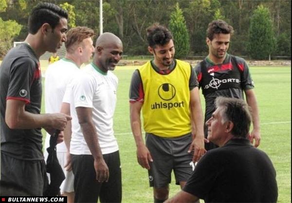 تمرین پرفشار تیم ملی در گرمای سیدنی (+تصاویر)