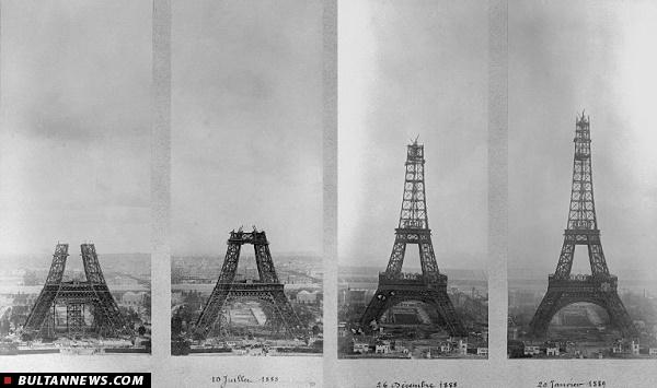 مراحل ساخت و ساز برج ایفل (+عکس)