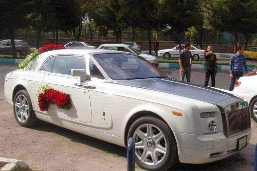 ماشین عروس ایرانی گرانترین ماشین عروس قیمت رولز رویس Black Phantom