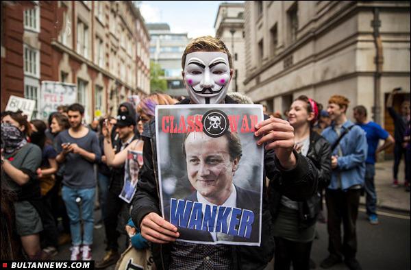 مردم بریتانیا به ریاضت اقتصادی معترضند یا تقلب در انتخابات؟!