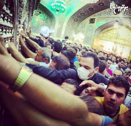 علیخانی ناشناس به زیارت امام رضا رفت +عکس