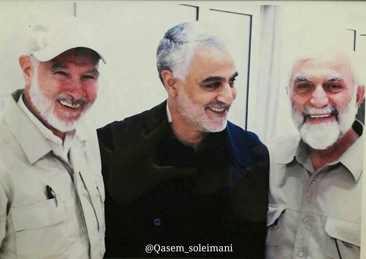 اخرین عکس یادگاری شهید سردار همدانی با حاج قاسم سلیمانی