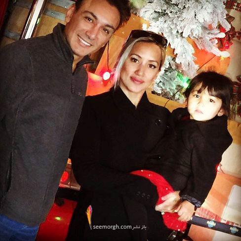 عکس زیبای شادمهر عقیلی از همسر و دخترش