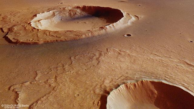 تصویری فوقالعاده از دهانههای برخوردی مریخ