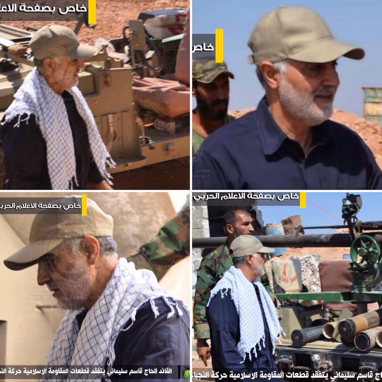 فرمانده نیروی قدس سپاه ساعتی پیش در جمع رزمندگان نُجَباء در حلب سوریه حاضر شد   + تصاویر