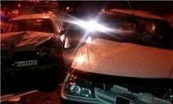 برخورد زنجیرهای 8 خودرو در محور اصفهان