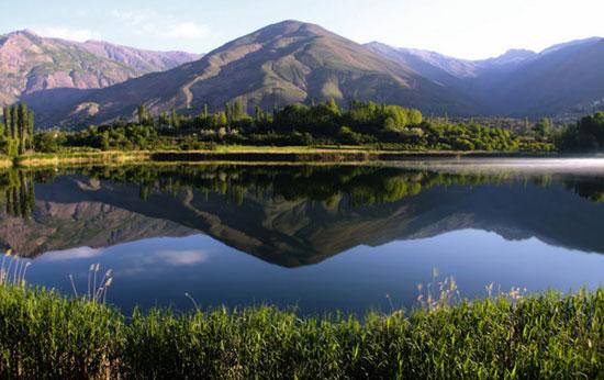 دریاچه اوان الموت / نمایی بهشتی در قزوین + تصاویر