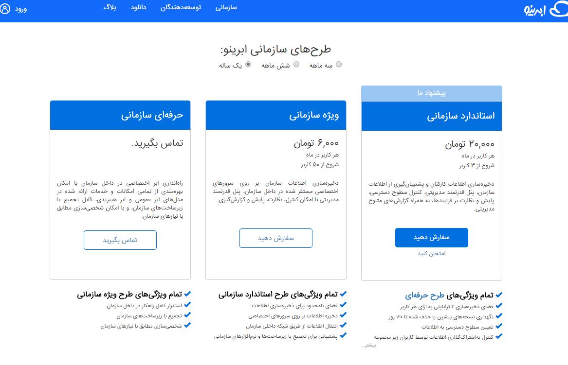 فضای ابری ایرانی برای سازمانها سرویس جدید ابرینو معرفی شد