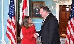 رایزنی پامپئو با همتای کانادایی خود پیرامون امور ایران