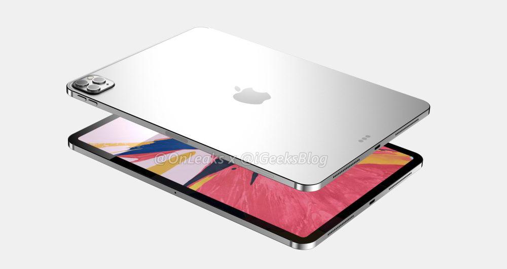 """Image result for انتشار اولین رندرهای اپل آیپد پرو ۲۰۲۰ با دوربین سهگانه"""""""