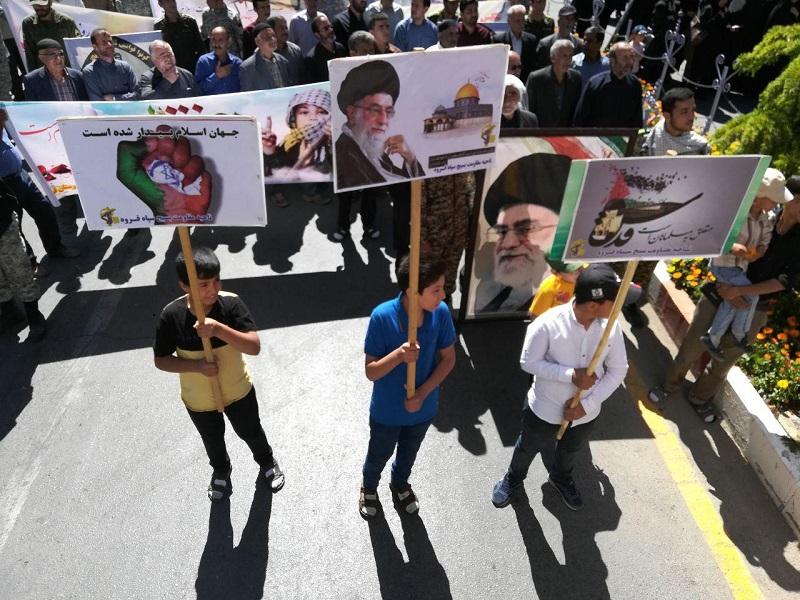 فریاد مرگ بر اسرائیل و مرگ بر آمریکا در شهرهای کردنشین ایران طنین انداز شد