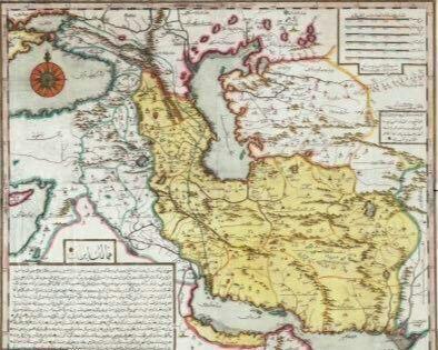 نقشه ایران در 286 سال قبل