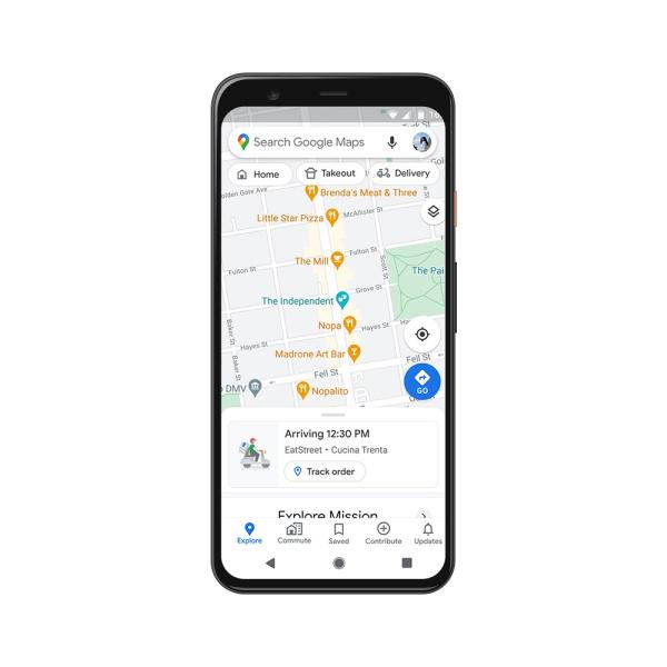 نقشه گوگل حالا میزان شلوغی حملونقل عمومی و زمان رسیدن پیک غذا را نشان میدهد