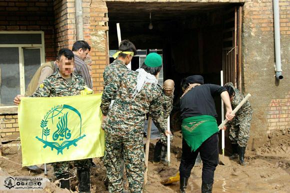 نیروهای جهادی فاطمیون به پلدختر رسیدند+تصاویر