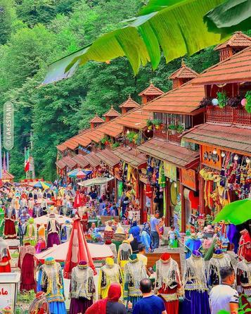 بازارچه قلعه رودخان - گیلان  #اینجا_ایران_است